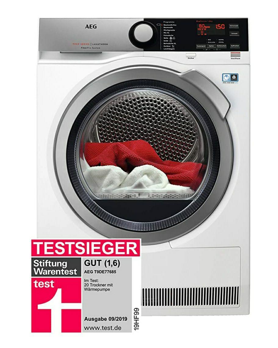 Amazon - AEG T9DE77685 Wärmepumpentrockner / FiberPro – Trocknen ohne Vorsortieren / 8,0 kg / A+++