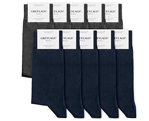 Greylags 10 Paar Premium Socken Strümpfe Baumwolle bequem ohne drückende Naht verschiedene Größen und Farben für Damen/Herren [Amazon Prime]