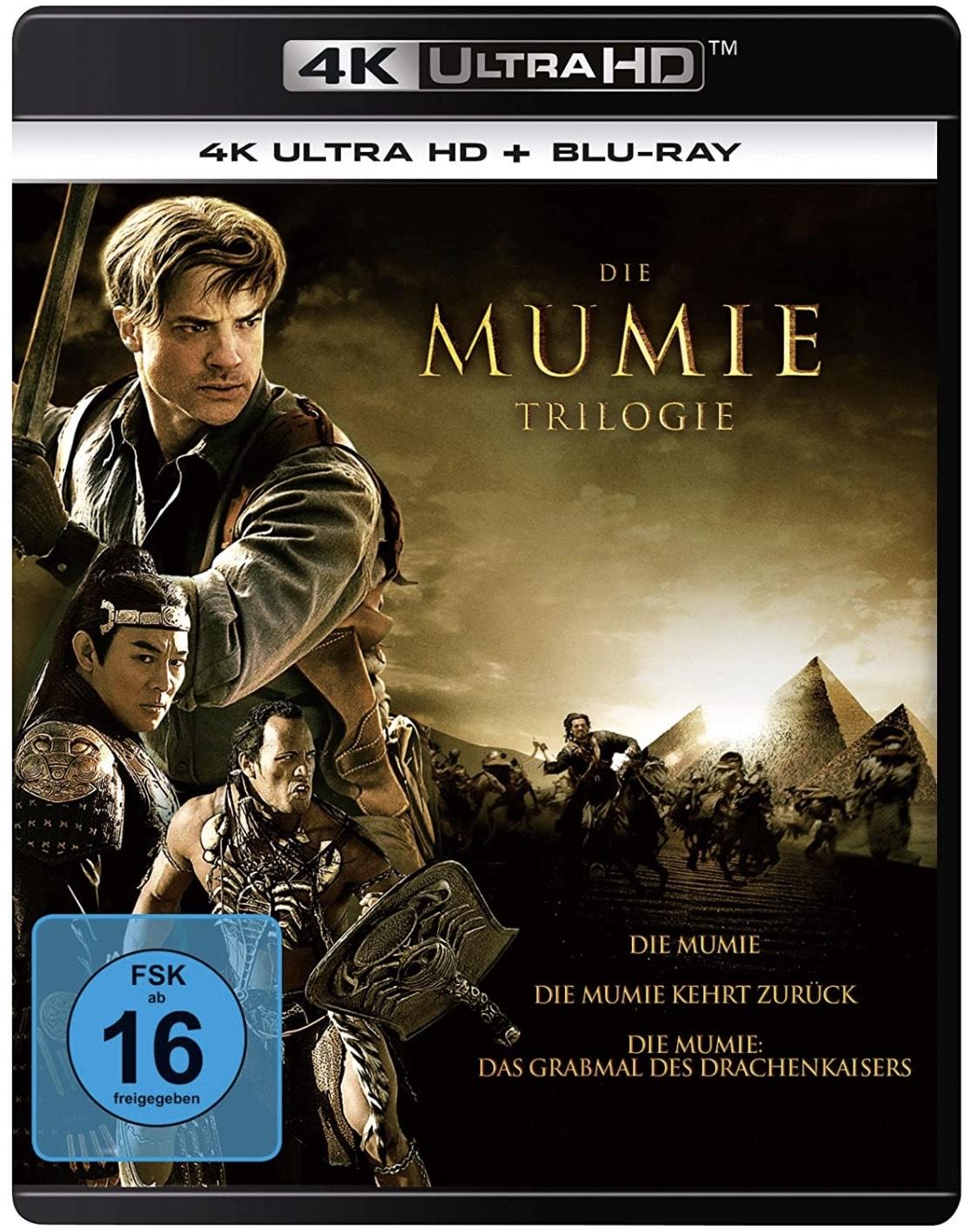 Die Mumie Trilogie (3 x 4K Ultra HD) (+ 3 x Blu-rays) | Bestpreis
