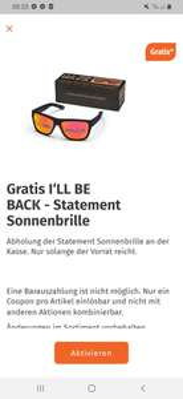 GRATIS I'll Be Back - Statement Sonnenbrille bei Müller dank App-Coupon