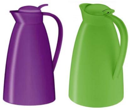 alfi 2 x Isolierkanne Eco1,0 l - 12 Stunden heiß, 24 Stunden kalt in lila oder grün