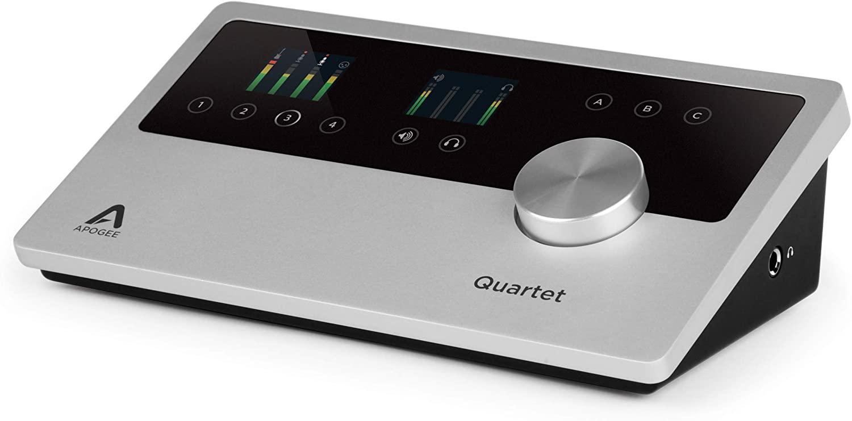 Apogee Quartet USB-Audio-Interface (4 analoge Ein- & 6 Ausgänge, 48V Phantomspeisung, OLED-Display, für Mac/Windows/iOS)