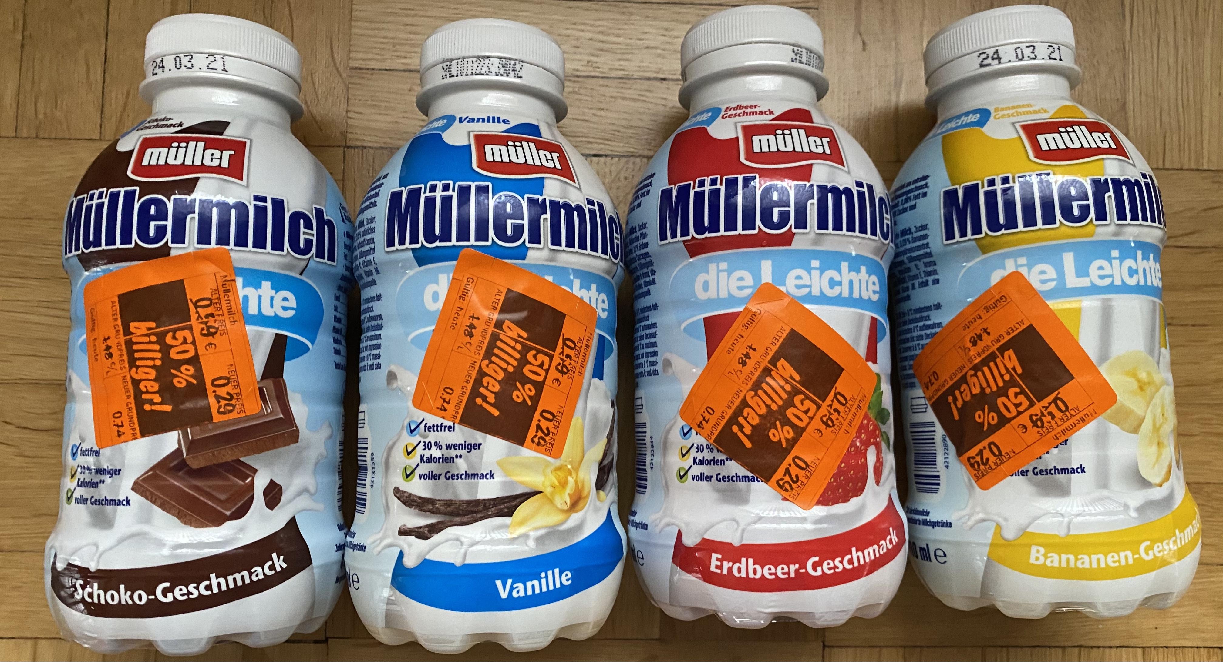 """Lidl: Müller Milch """"Die leichte"""" und """"Protein"""" für 29c (500ml)"""