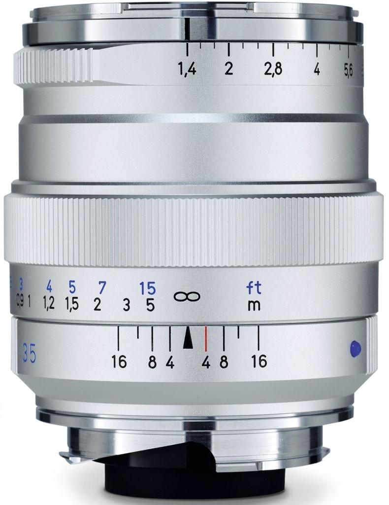 Zeiss Distagon T* 35mm F1.4 Objektiv für Leica M-Mount (silber)