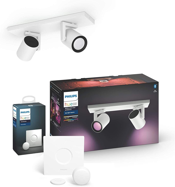 [Sammeldeal] Philips Hue Osterangebote @Amazon - z. B. HueArgenta Color 2er Spot mit Bluetooth + Hue Smart Button
