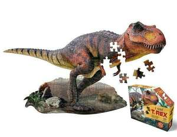 Madd Capp Shape Puzzle Junior - Sammeldeal, z.B.T-Rex 100 Teile gelegte Größe: 96.5 x 53.3 cm . [Thalia KultClub]