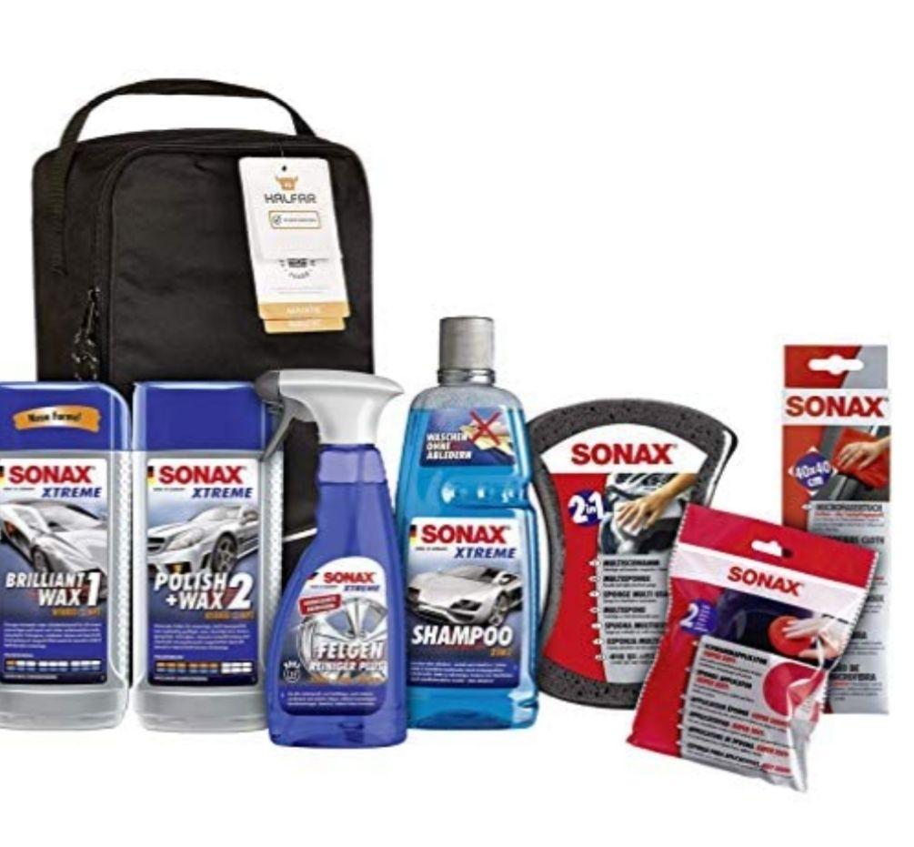 SONAX XTREME Autopflege Set inkl. Tasche (8-teilig); Autoreinigungs- und Pflegeset für den Fahrzeug-Außenbereich [Prime]
