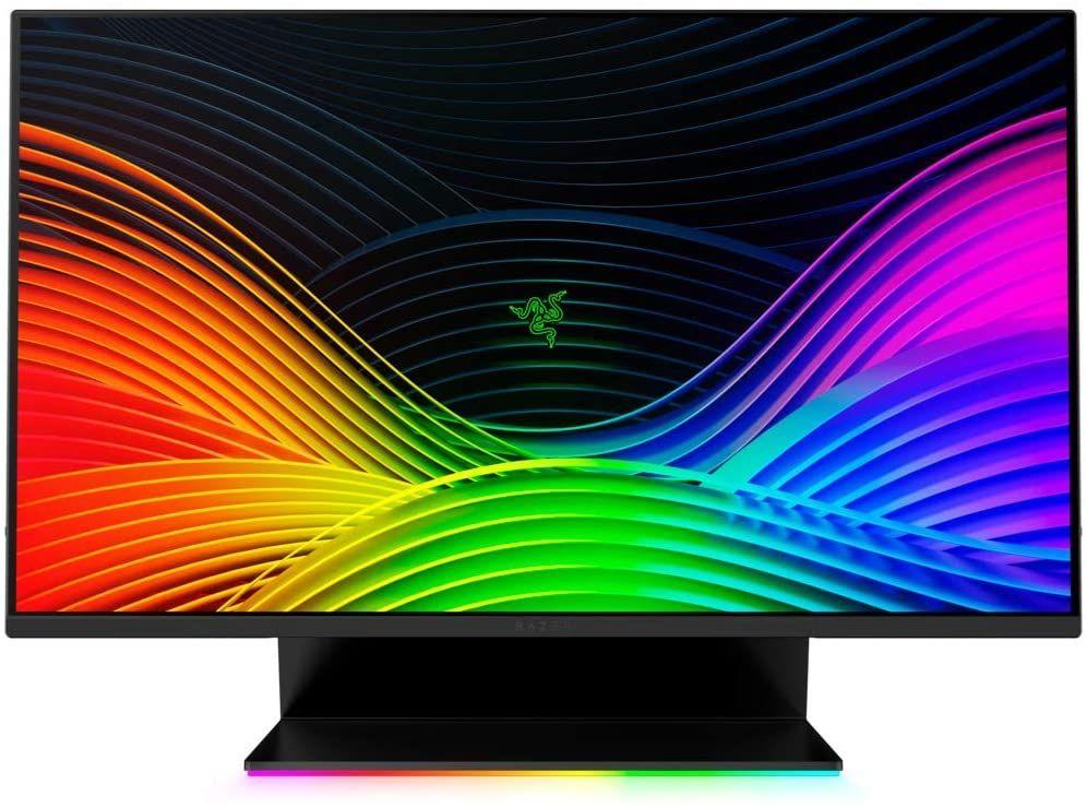 "Razer Raptor 27"" WQHD Gaming-Monitor (IPS, 144 Hz, AMD FreeSync Premium, Nvidia G-Sync compatible, 4 ms, DisplayPort, HDMI, USB-C, HDR 400)"