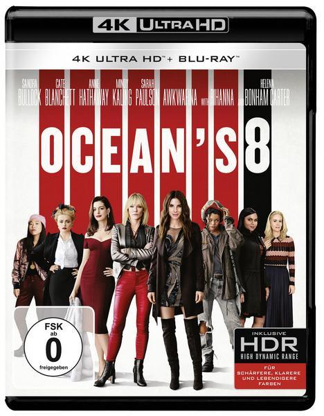 Ocean's 8 (4K Blu-ray + Blu-ray) für 8,41€ (Thalia Kultklub)