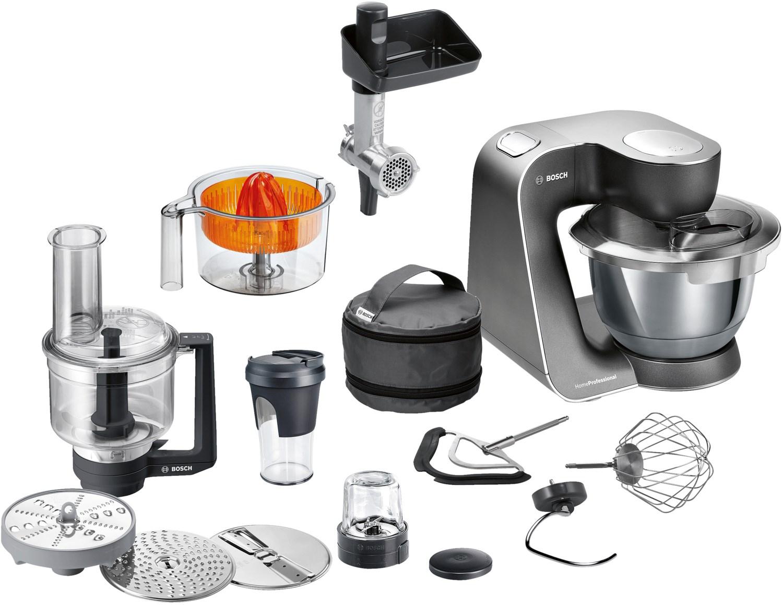 Bosch HomeProfessional MUM5 9M55 - Multifunktions-Küchenmaschine mit 1kW Motor und 3,9L Schüssel - mit Voll-Edelstahl Zubehör