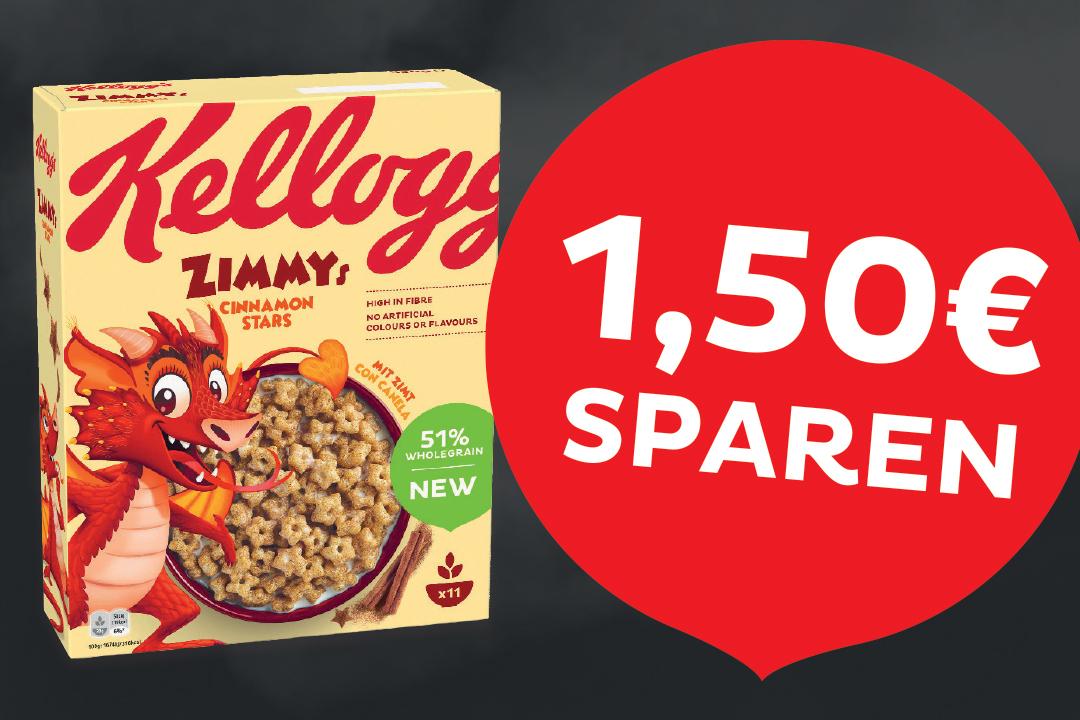 [Rewe] [Scondoo] Kellogs Zimmys via Scondoo Cashback für 0,49 € (bis zu 3 Packungen)
