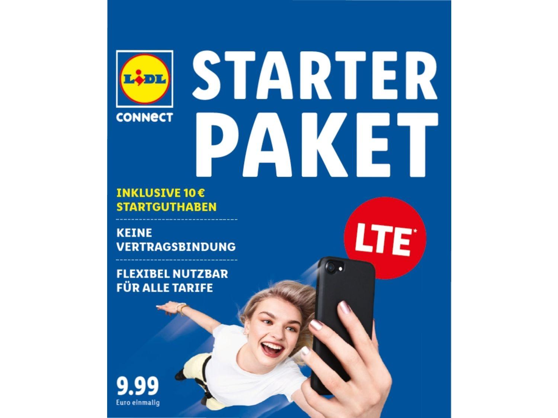 50% Rabatt auf Lidl Connect Starterpaket inkl. 10€ Startguthaben