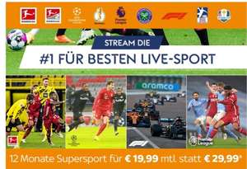 Sky Ticket Supersport (u.a.) Verlängerung des Angebotspreis um 12 Monate
