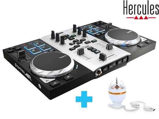Hercules DJ Control Air S (2-Deck DJ Controller, Air Control, 8 Pads, integr. Soundkarte) [iBOOD]