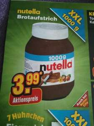 [Netto ohne Hund] Nutella 1000g 3,99