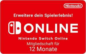 Nintendo Switch Online 12 Monate für 14,99€ (Cdkeys)