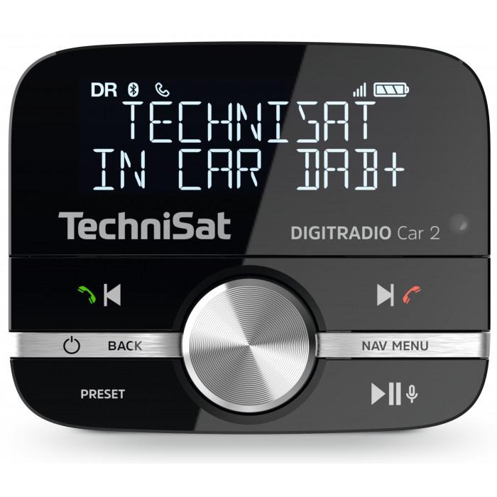 TechniSat Digitradio Car 2 DAB+ Adapter (Aufrüsten von Auto-Radios, FM-Transmitter für DAB+ Sender mit Bluetooth und Freisprecheinrichtung)