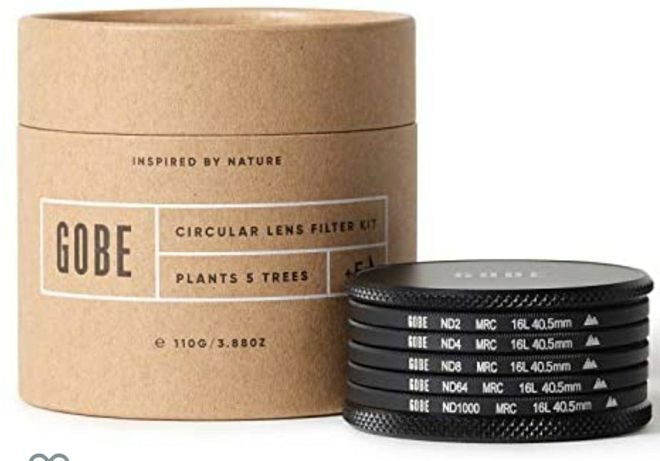 Gobe 40.5 mm Graufilter ND2, ND4, ND8, ND64, ND1000 - ND Filter Kit (2Peak) z. Bsp. für Sony
