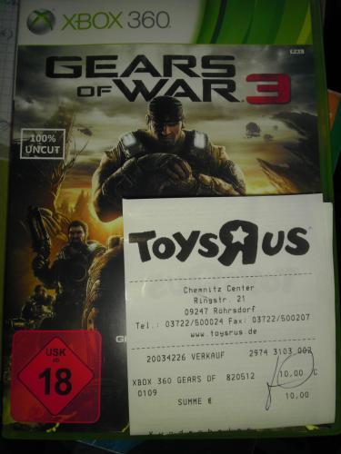 Gears Of War 3 für XBOX360 @ToysRus Chemnitz