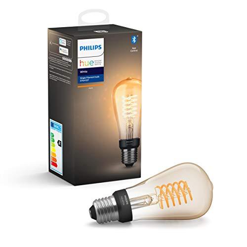 Philips Hue White Filament E27 LED Kolben, dimmbar, warmweißes Licht 7 Watt 550 lm (Prime)