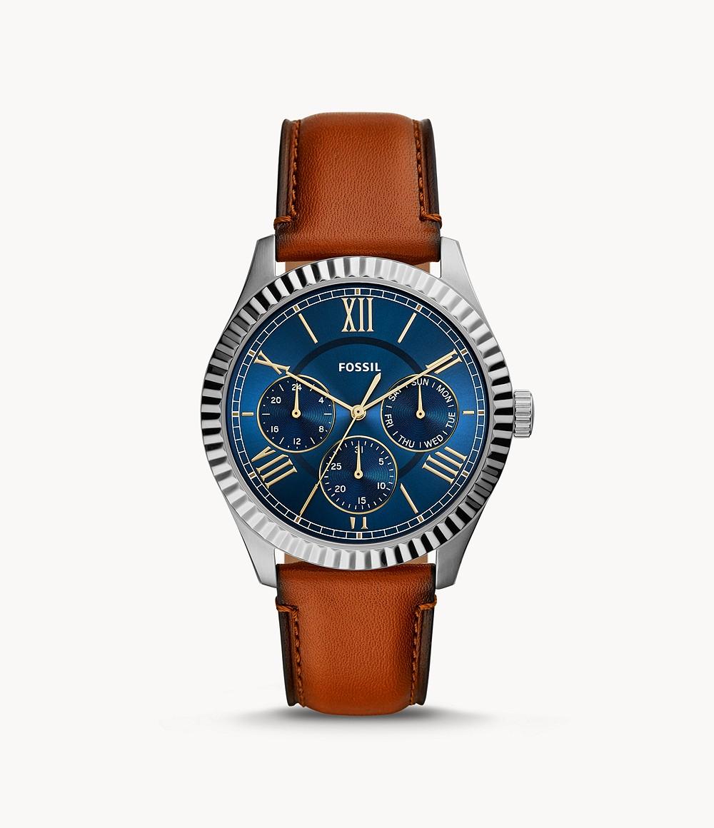 60% Rabatt auf ausgewählte Uhren für Sie & Ihn bei Fossil + 15% on top, z.B. Herrenuhr Chapman Multifunktion Leder Braun
