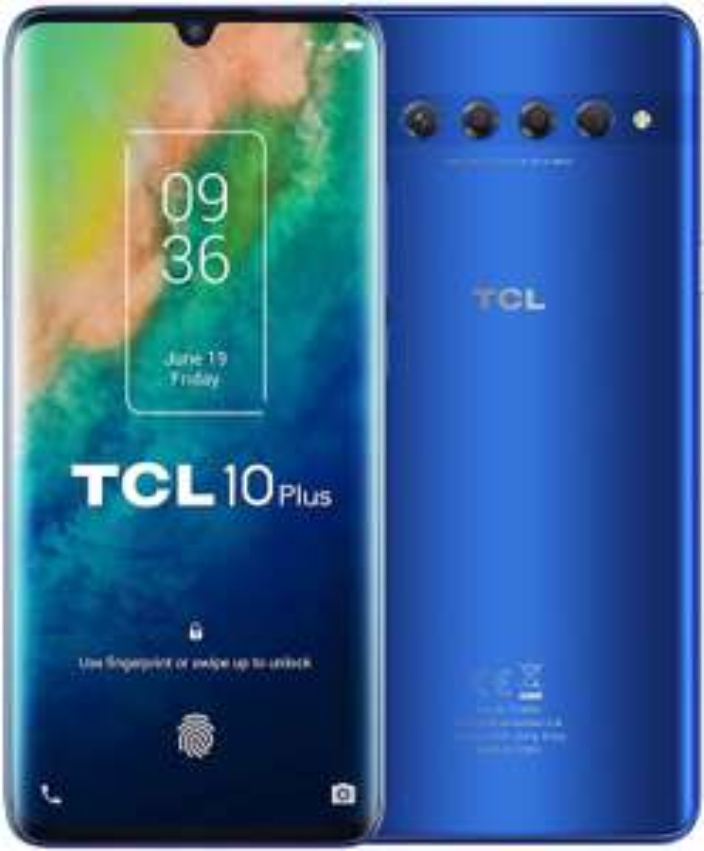"TCL 10 Plus 6,47"" FHD+ AMOLED Dual-SIM Smartphone 6/64GB (Snapdragon 665, 4.500 mAh, 171K AnTuTu, 48 MP Quad-Cam, NFC, USB-C, aptX)"