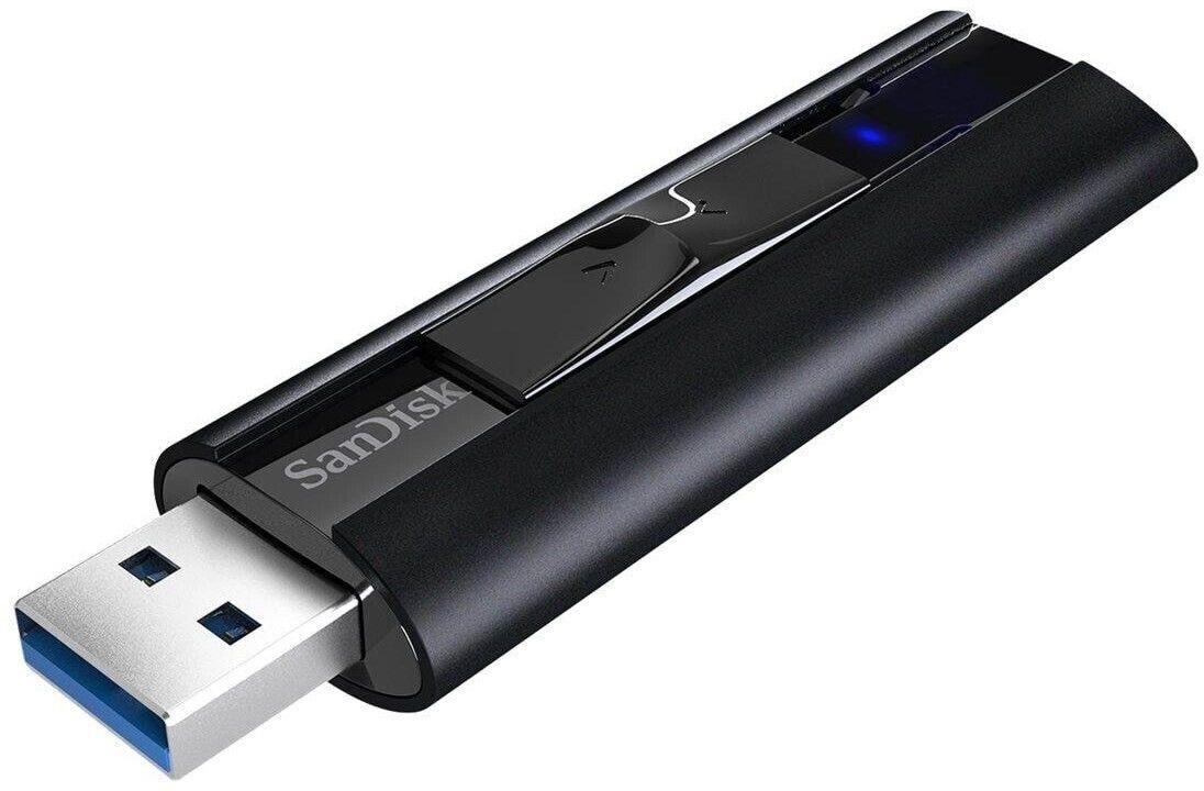 SANDISK Extreme PRO USB 3.2 Solid State USB Flash Laufwerk (Schwarz, 512 GB) [Saturn & Mediamarkt & Amazon]