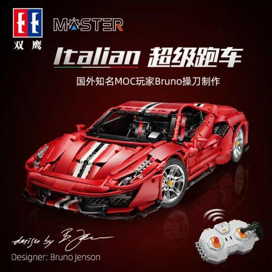 CaDA Master C61042 Italian Super Car motorisiertes RC Klemmbausteine Set    mit OVP 143,17€    C61043 (static): mit OVP 100€ - ohne OVP 92€