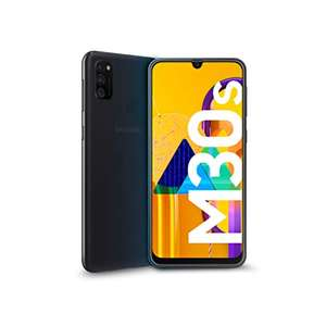 "Samsung M30s / 6000 mAh Akku / 6.4"" / 4 GB RAM / 64 GB / 48 MP Triple-Kamera / Schwarz [Amazon WHD]"