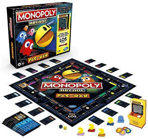 [Amazon Prime] Monopoly Arcade Pac-Man, ab 8 Jahren, inklusive Bank- und Arcade-Automat, Monopoly Banking Cash-Back für 23,99€