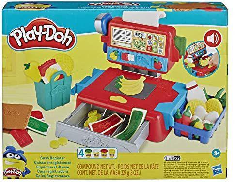 [Amazon Prime] Play-Doh Supermarkt-Kasse Spielzeug ab 3 J., mit lustigen Geräuschen, Zubehör und 4 Play-Doh Farben