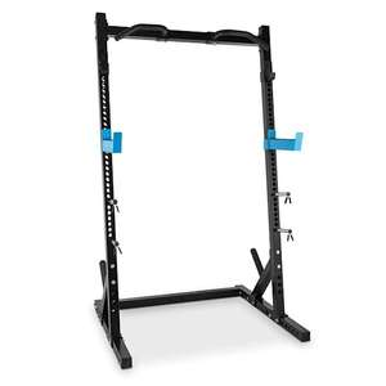 Capital Sports Racktor Half Rack (720/850kg Belastbarkeit, Stecksystem mit 35 Aufnahmen, Klimmzugstange, 121x210x107cm, 55kg)