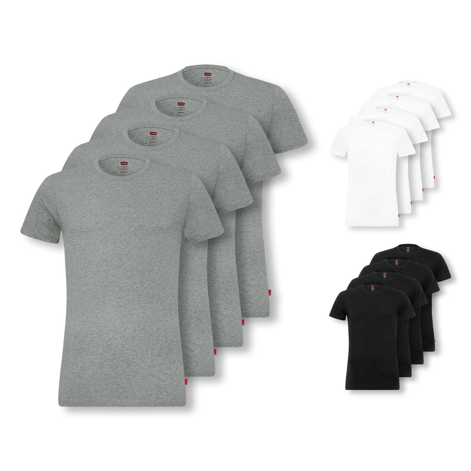 4er Pack Levi's T-Shirts, Crew-Neck, V-Neck (Größen S, M, L, XL)