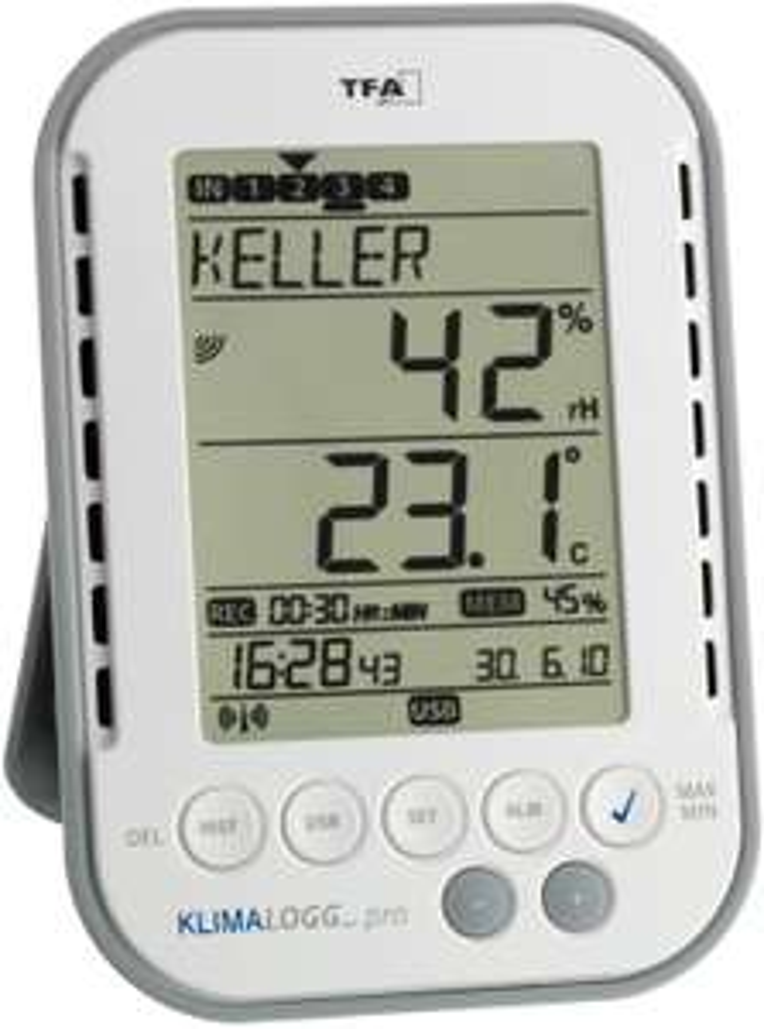 TFA Dostmann KlimaLogg Pro Temperatur-/Feuchtestation Digital (30.3039)