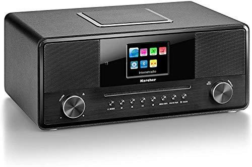 KARCHER DAB 9000CDI Internetradio schwarz ( WLAN Bluetooth DAB+/Internetradio AUX-Eingang Kopfhörerausgang CD/MP3-Player Wecker)