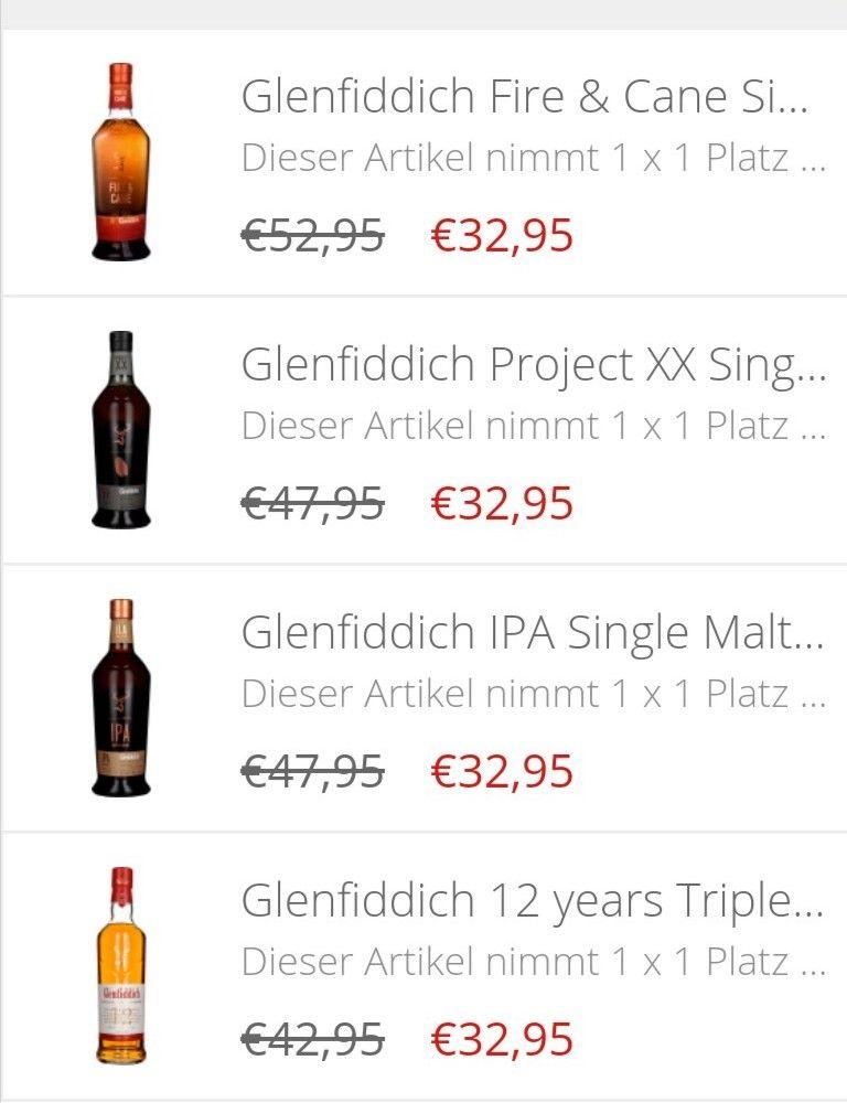 Glenfiddich Single Malt Whisky: Fire & Cane, Projekt XX, IPA, 12 Triple Oak für je 32,95€ plus 5,95€ Versand