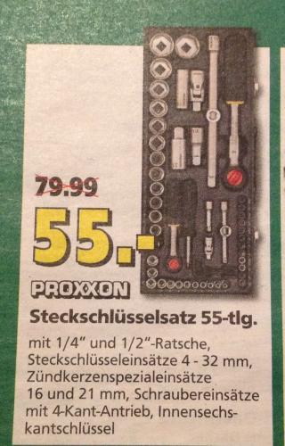 [Lokal: Saarbrücken] Proxxon Steckschlüsselsatz 55-tlg.