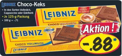 [LiDL] Leibniz Choco-Keks Vollmich, Cappuchino oder Edelherb