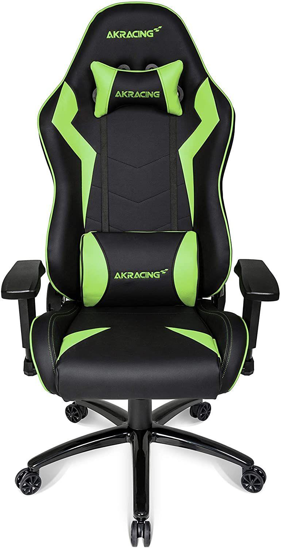 AKRACING Gaming Chair Gamingchair, PU-Kunstleder, Core SX Schwarz/Grün, normal [Mediamarkt & Amazon]