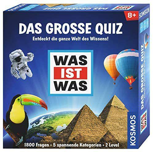 [Media Markt-Saturn Abholung/Prime] KOSMOS Spiele 697891 - WAS IST WAS - Das große Quiz, 1800 Fragen, 5 Kategorien, 2 Level, ab 8 J.