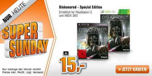 Dishonored Special Edition Steelbook PS3 oder X-BOX @ Saturn Super Sunday ab je 15,00 EUR (Marktabholung jetzt möglich)
