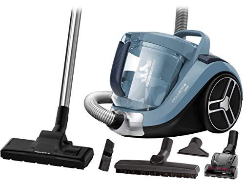 Bestpreis - Rowenta RO4871 Compact Power XXL Animal | Beutelloser Staubsauger | 2,5L Staubvolumen | blau/silber