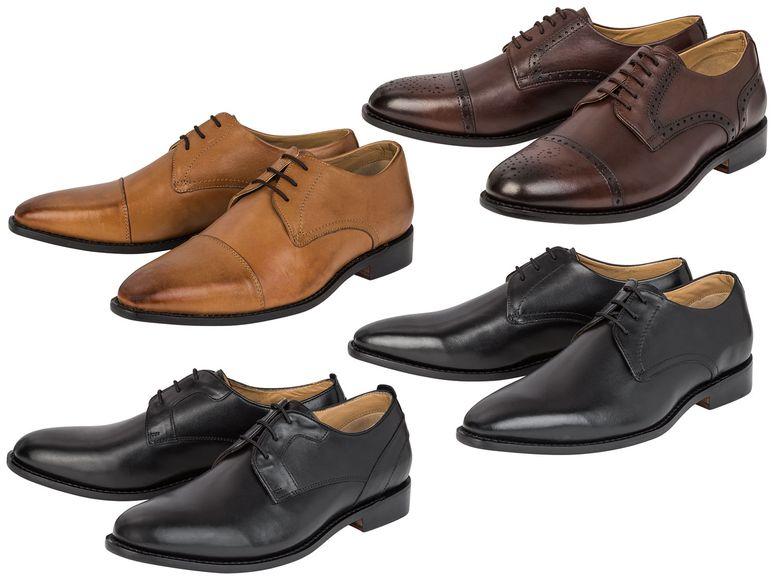 Lidl online Sale : Herren Echtleder Schuh , Brogue - Look in verschiedenen Varianten, noch einige Größen verfügbar, Retoure kostenlos