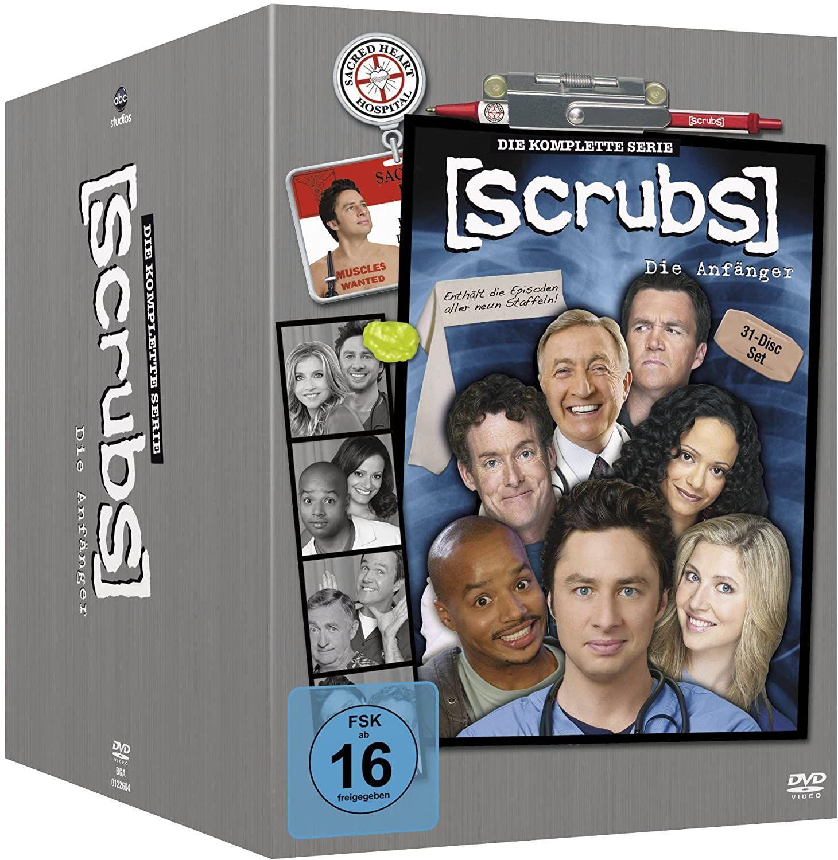 Scrubs: Die Anfänger - Die komplette Serie, Staffel 1-8 + 9 [31 DVDs], Mediamarkt mit Shoop-CB für 32,44€