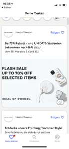 Ideal of Sweden 70 % Sale + Neukundenrabatt 10% oder UNiDAYS 16%