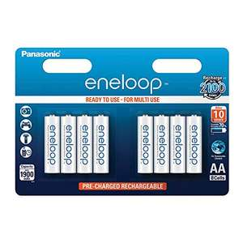 [Prime] Panasonic Eneloop 8x AA Akku 1900mAh, 2100 Zyklen