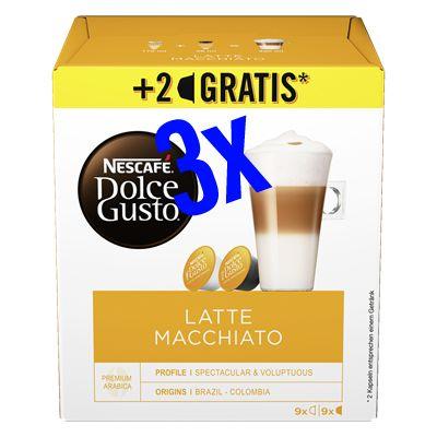[Kaufland Do-Mi] 3x Nescafé Dolce Gusto Kapseln 16 + 2 gratis mit Coupon für 3,97€ (Stückpreis = 1,32€)