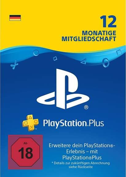 12 Monate PlayStation Plus (für deutsche Konten, auf bestehendem PS+ Abo verwendbar, Zahlung mit PayPal)