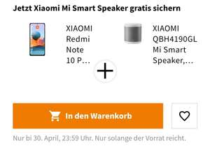 [Vorbestellung Media Markt/Saturn] XIAOMI Redmi Note 10 Pro [6/128 GB] inklusive XIAOMI Smart Speaker
