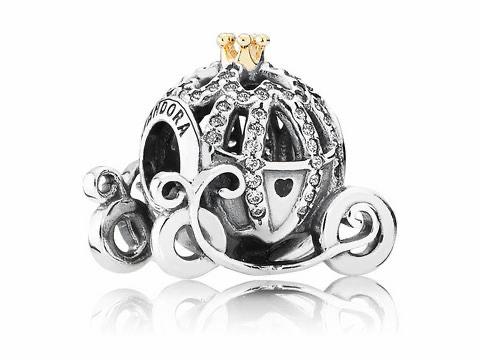 PANDORA - 791573CZ - Disney, Cinderella's Pumpkin - Charm